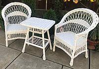 Белая мебель с 2 креслами  Мебель из лозы белая  мебель плетеная белая со столом журнальным