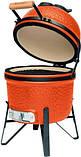 Керамический гриль печь для барбекю с решеткой из стали 27 см оранжевого цвета BergHOFF Studio (2415705), фото 3
