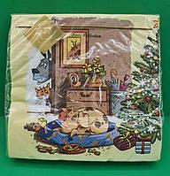 Святкова серветка (ЗЗхЗЗ, 20шт) LuxyНГ Бажане місце(1231) (1 пач.)заходь на сайт Уманьпак, фото 1