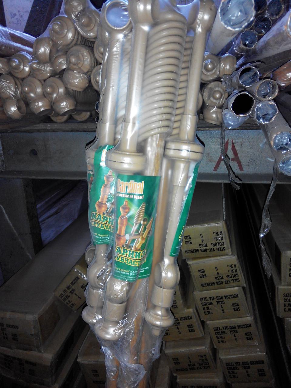 Карниз 1,2 метра двойной трубчатый металлопластиковый, ассортимент цветов, доставка по Украине - фото 2