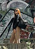 Модный женский рюкзак-сумка черный из эко-кожи повседневный, городской, фото 10