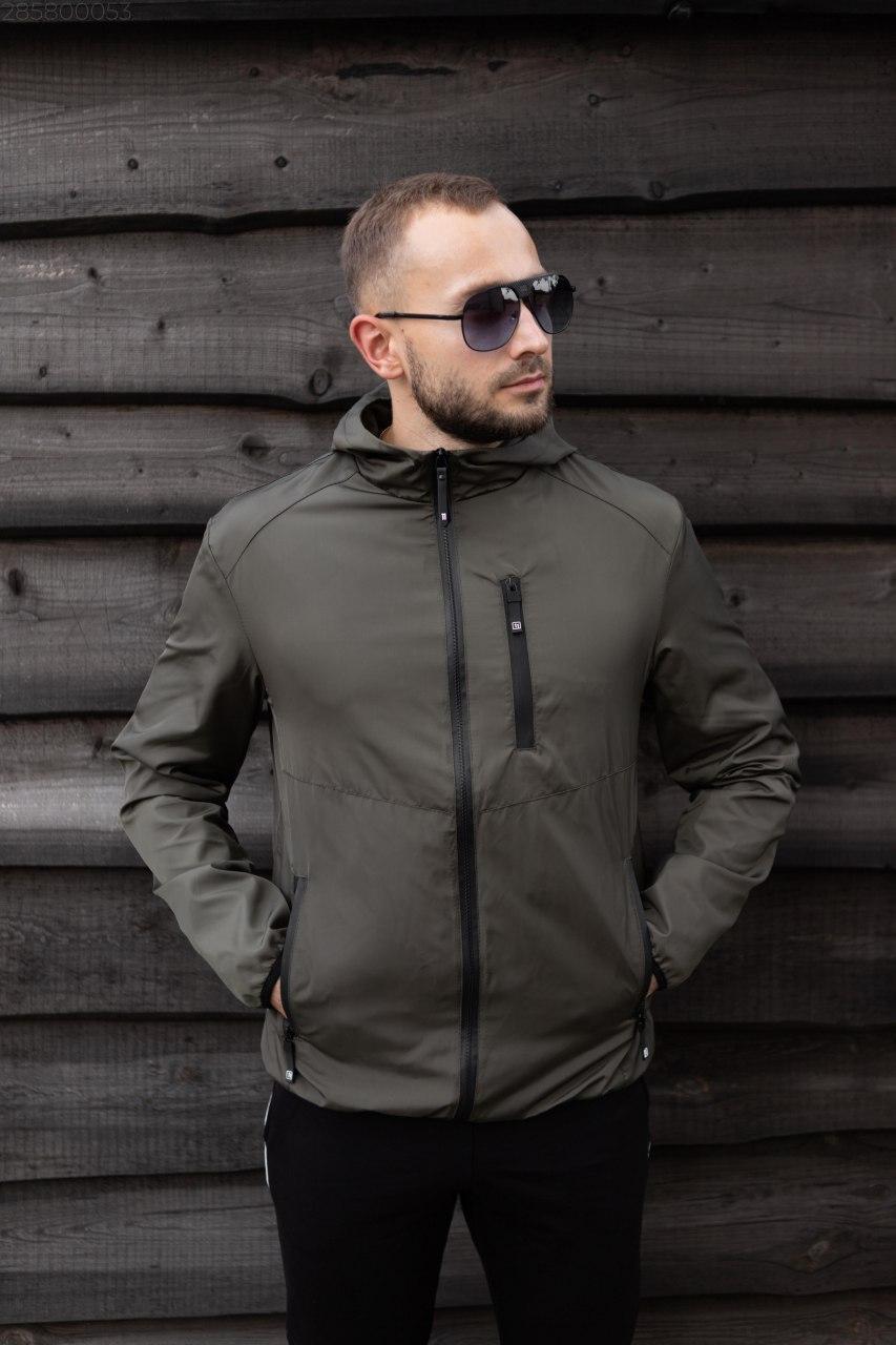 Мужская куртка плащевка хаки SOFT