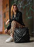 Модный женский рюкзак-сумка черный из эко-кожи повседневный, городской, фото 6