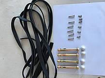 Козырек 1х1,2м навес из поликарбоната сотового с кронштейнами и крепежом бронза, фото 3