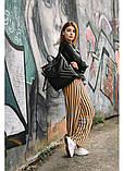 Модный женский рюкзак-сумка черный из эко-кожи повседневный, городской, фото 8