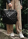 Модный женский рюкзак-сумка черный из эко-кожи повседневный, городской, фото 9