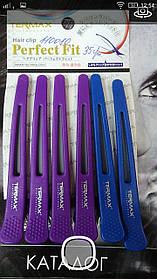 Зажим для волос Termax  (комбинированный/с резинкой)