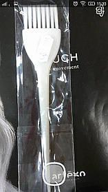 Кисточка для покраски Salon белая 0245