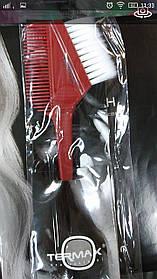 Кисточка для покраски с расческой (красная) TERMAX