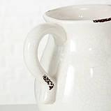 Кувшин керамический белый h18см 1002085, фото 4