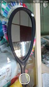 Зеркало для клиента (капля) черное ZRK-04