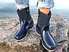 Женские резиновые  сапоги, полу сапоги с утеплителем синие, фото 2