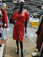 Халат та сорочка жіночі червоного кольору. ТМ Anabel Arto. Розмір:50