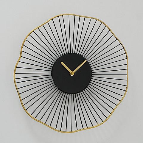 Настінні годинники Yoko аналогові чорні 35см 1021291