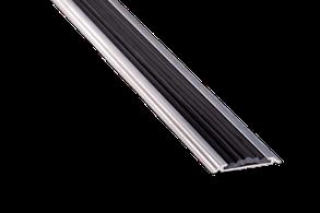 Порог алюминиевый 17А с резинкой 0,9 метра серебро 4,8х46мм скрытое крепление, фото 2