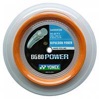 Струна для бадминтона Yonex BG-80 Power (бобина 200 метров) Orange