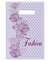 """Пакет с прорезной ручкой (20*30)""""Fashion цветы""""Леоми (100 шт)заходи на сайт Уманьпак"""