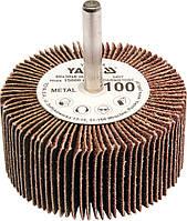 Круг шлифовальный лепестковый для дрели YATO 60 х 30 х 6 мм К100