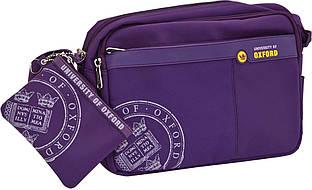 """Сумка подростковая Х109 """"Oxford"""", с отдельным кошельком-карманом, purple"""