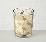 Набор подсвечников 3х h6 d5см золотое стекло 1009920 подсвечники комплект подсвечник стакан, фото 2