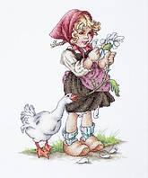 """Набор для вышивания крестом """"Luca-s"""" B1047 Девочка с гусем"""