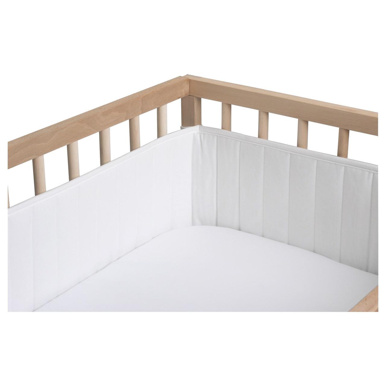 КОМПИСАР Мягкий бортик, белый, 374x21 см, 30113939, ИКЕА, IKEA, KOMPISAR