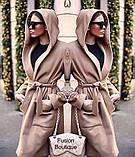 Пальто кашемировое на подкладке с капюшоном женское демисезонное. Размер: 42-44; 44-46. Цвет: чёрный, бежевый., фото 2