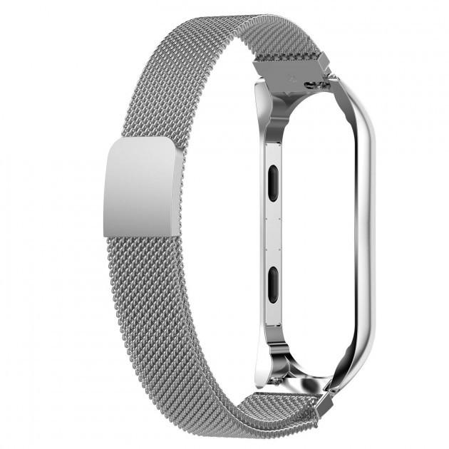 Ремінець для Xiaomi MiBand 3 Міланська петля L Silver (20217)