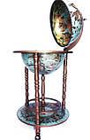 Глобус бар напольный 360 мм на 3х ножках 36001L-G глобус-бар высота 90 см, фото 3
