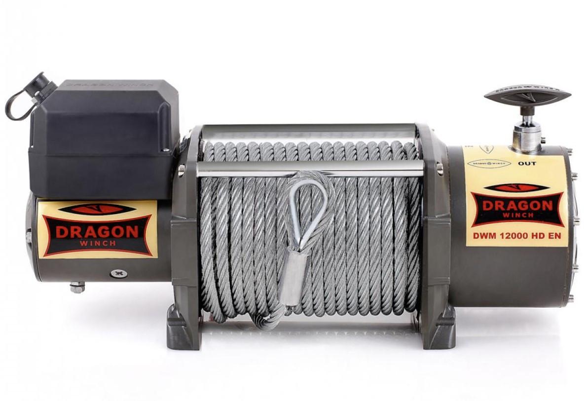 Лебедка автомобильная электрическая Dragon Winch DWM 12000 HD EN
