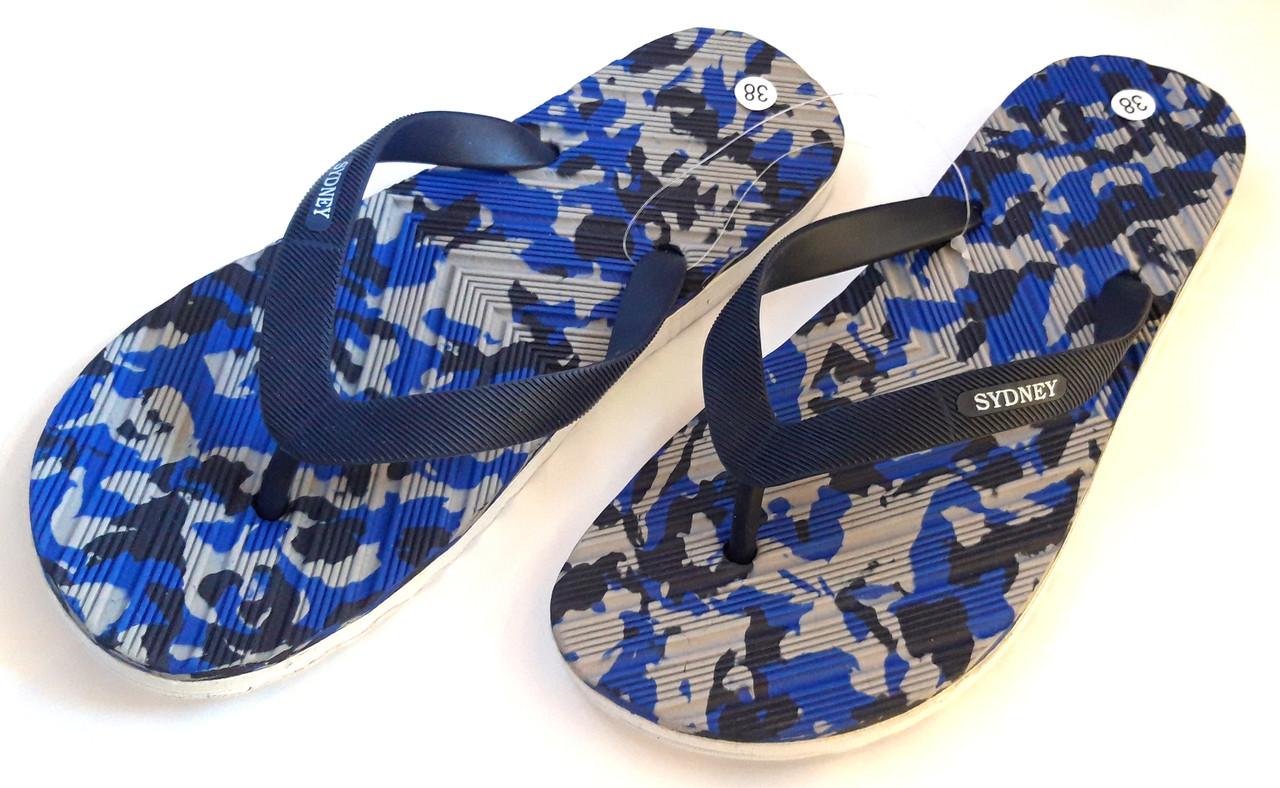 Шлепанцы вьетнамки (сланцы) Sydney 37-41, темно-синие