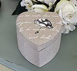 Шкатулка сердце с зонтиком GM09-J6039L, фото 2