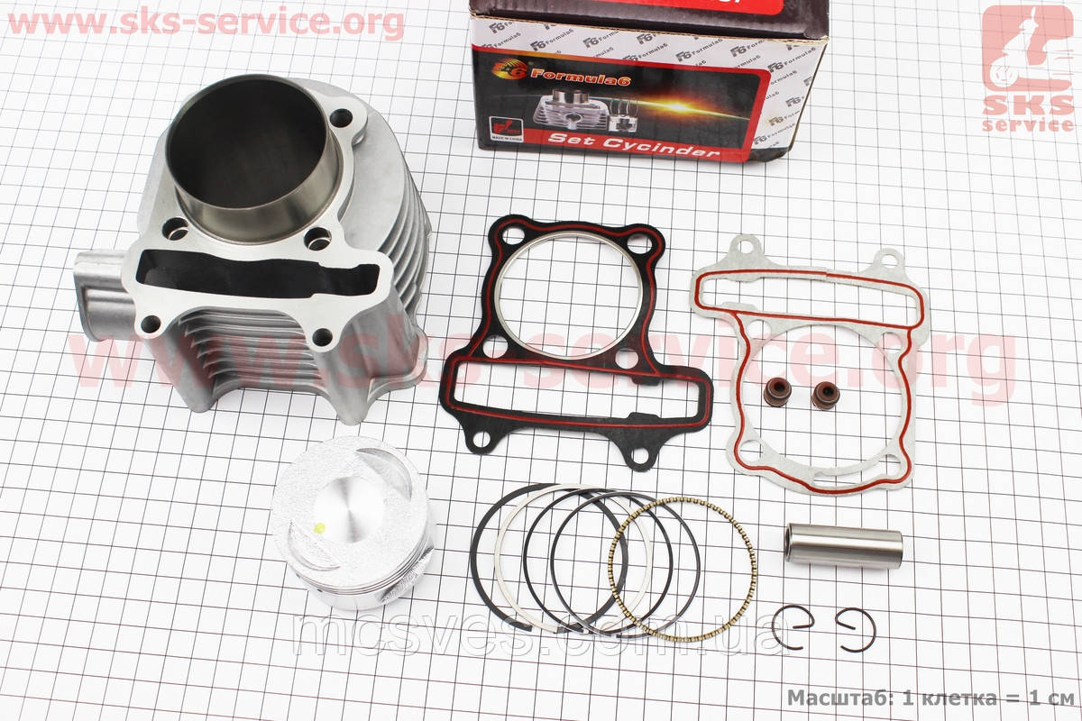 Циліндр к-кт (цпг) 150cc-57.4 мм (палець 15 мм)