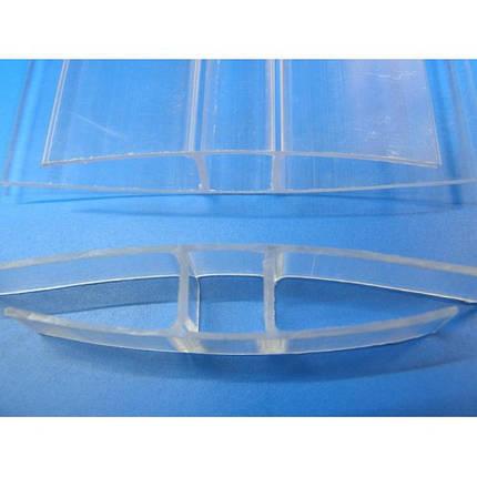 Соединительный профиль для поликарбоната 10 мм длинна 6 метров прозрачный, фото 2