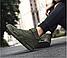 Высокие кроссовки мужские демисезонные, цвет хаки, фото 4