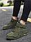 Высокие кроссовки мужские демисезонные, цвет хаки, фото 7