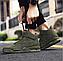 Высокие кроссовки мужские демисезонные, цвет хаки, фото 9