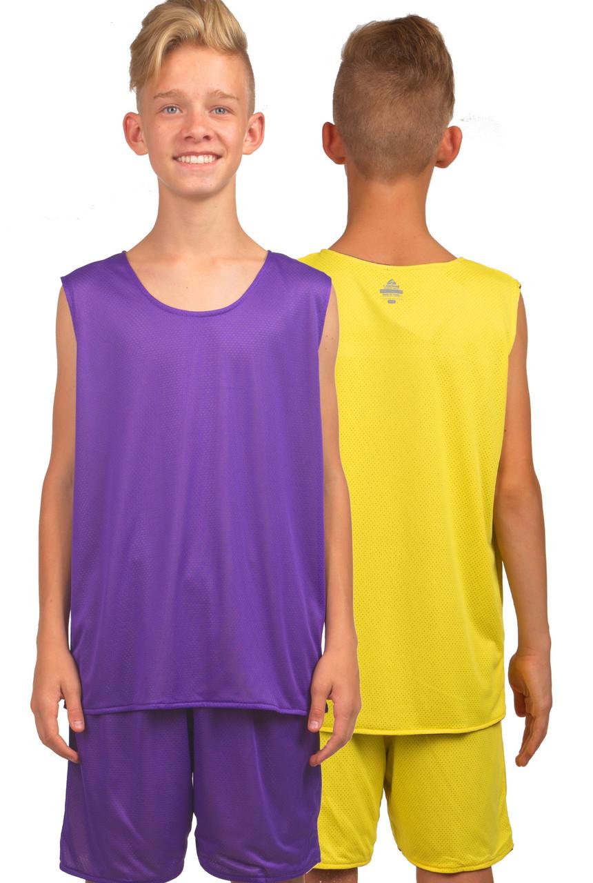 Форма баскетбольная детская-подростковая BasketBall Uniform фиолетово-жёлтый (LD-8300T)