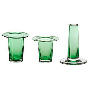 АНВЭНДБАР Ваза, 3 шт., зеленый, 10329997, ИКЕА, IKEA, ANVÄNDBAR, фото 2