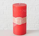 Свеча красный воск h15 d7см 1008630, фото 2