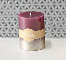 Свічка рожевий віск h10 d7см 1015388