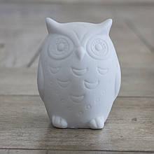 Led каганець Сова біла кераміка һ9см 1197000