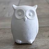 Led ночник Сова белая керамика h9см 1197000, фото 2