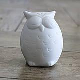 Led ночник Сова белая керамика h9см 1197000, фото 3