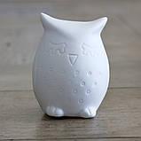 Led ночник Сова белая керамика h9см 1197000, фото 4