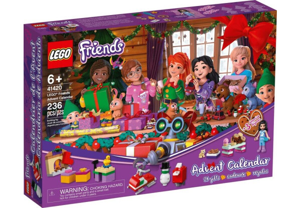 Lego Friends - Новорічна адвент календар (Advent Calendar, 236 дет, 2020), 6+ (41420)