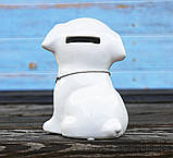 Копилка собачка Doglady белая керамика h13см 4506700, фото 5
