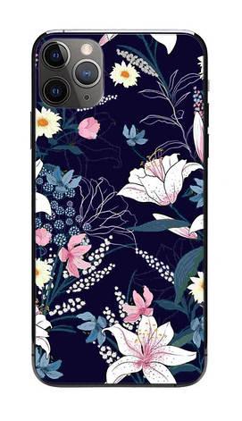 Универсальная пленка на заднюю панель для смартфона Rock Space Лилия Черный (948499), фото 2