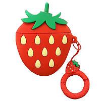Силиконовый футляр Smile Fruits series для наушников AirPods + кольцо