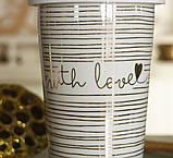 Чашка з кришкою беж кераміка 1020340, фото 2